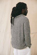 Load image into Gallery viewer, FAIRLEE SHAWL PULLOVER - BLACK / SAND / NATURAL LINEN