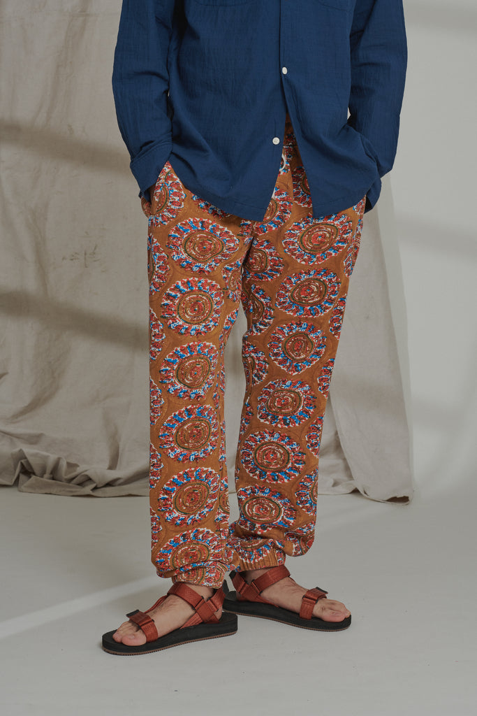 APPAM BLOCK PRINTED SWEATPANT - OCHRE
