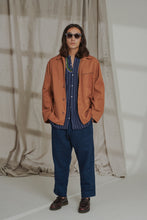 Load image into Gallery viewer, WESTERN CHORE COAT - OCHRE OVERDYED KHADI DENIM