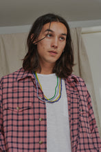 Load image into Gallery viewer, CAM SHIRT JACKET - NAVY / MADDER KHADI CHECK