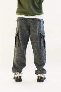 GORECKI CARGO PANT - GRAY MOLLOY & SONS DONEGAL PLAINWEAVE TWEED