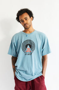 BAGRU MOUNTAIN TEE - SLATE BLUE