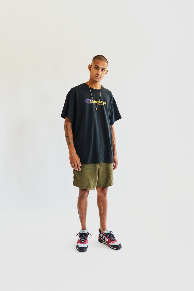 SHELTER CAMP SHORT - ARMY GREEN LINEN TWILL