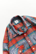 Load image into Gallery viewer, ROOMET WORK SHIRT - INDIGO MELANGE FLANNEL PLAID