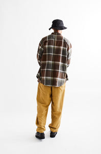 ROOMET WORK SHIRT - ARMY HANDWOVEN MADRAS