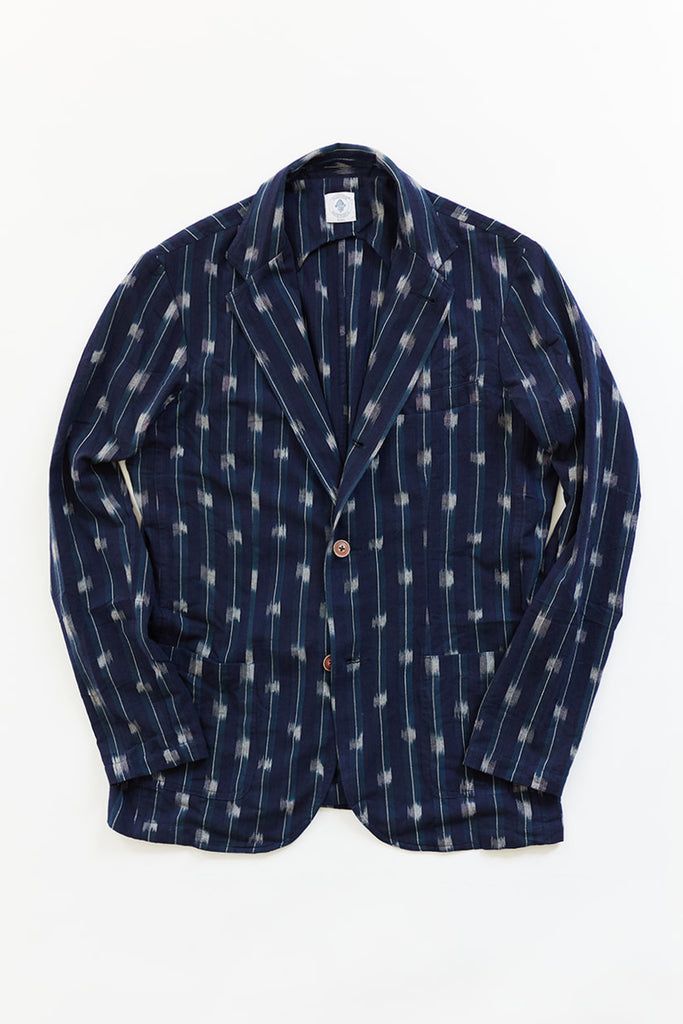OSMAN JACKET - MIDNIGHT NAVY IKAT