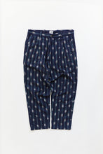 Load image into Gallery viewer, SINGLE PLEAT TROUSER - MIDNIGHT NAVY IKAT