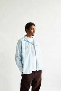 PIONTA CAMP SHIRT - PALE SKY COTTON RIPSTOP