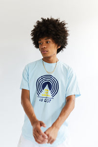 BAGRU MOUNTAIN TEE- ALHPA BLUE