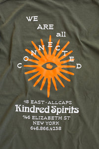 ALLCAPSTUDIO X 18 EAST KINDRED SPIRITS TEE - ARMY GREEN