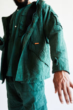 Load image into Gallery viewer, PROSPECT PARKA - KOSTON GREEN OVERSIZED JACQUARD