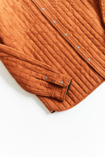 Load image into Gallery viewer, REVERSIBLE CLAREMONT QUILTED JACKET - ALMOND OVERSIZED JACQUARD