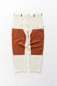 STUDIO DOUBLE KNEE PANT - UNDYED KHADI / ALMOND DOUBLE WEAVE