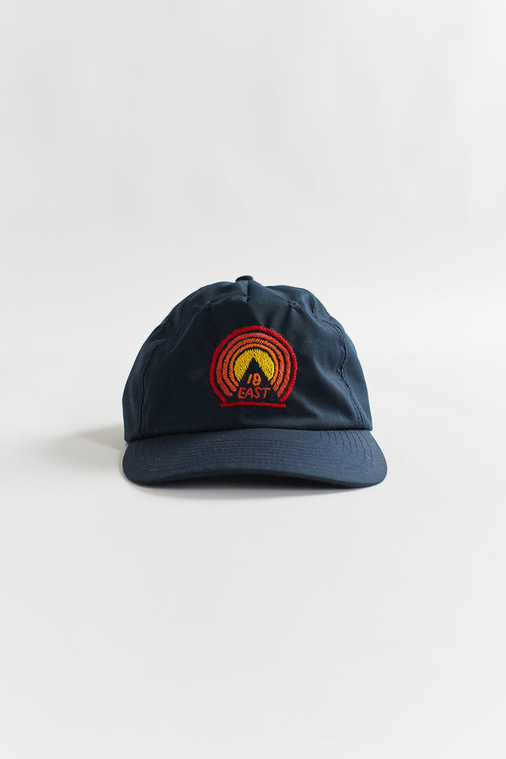 BAGRU MOUNTAIN FIVE PANEL CAP - NAVY RECYCLED NYLON
