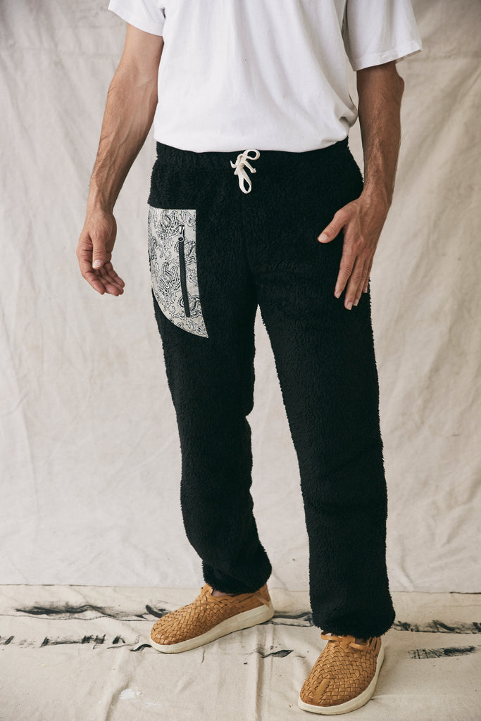 WINOOSKI SHERPA PANT - BLACK FLEECE
