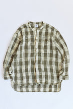 Load image into Gallery viewer, AKC2 KURTA - ARMY / ECRU HANDLOOM COTTON PLAID