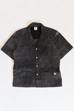 Load image into Gallery viewer, YOUSEF CAMP SHIRT - BLACK PATCHWORK KANTHA RIPSTOP