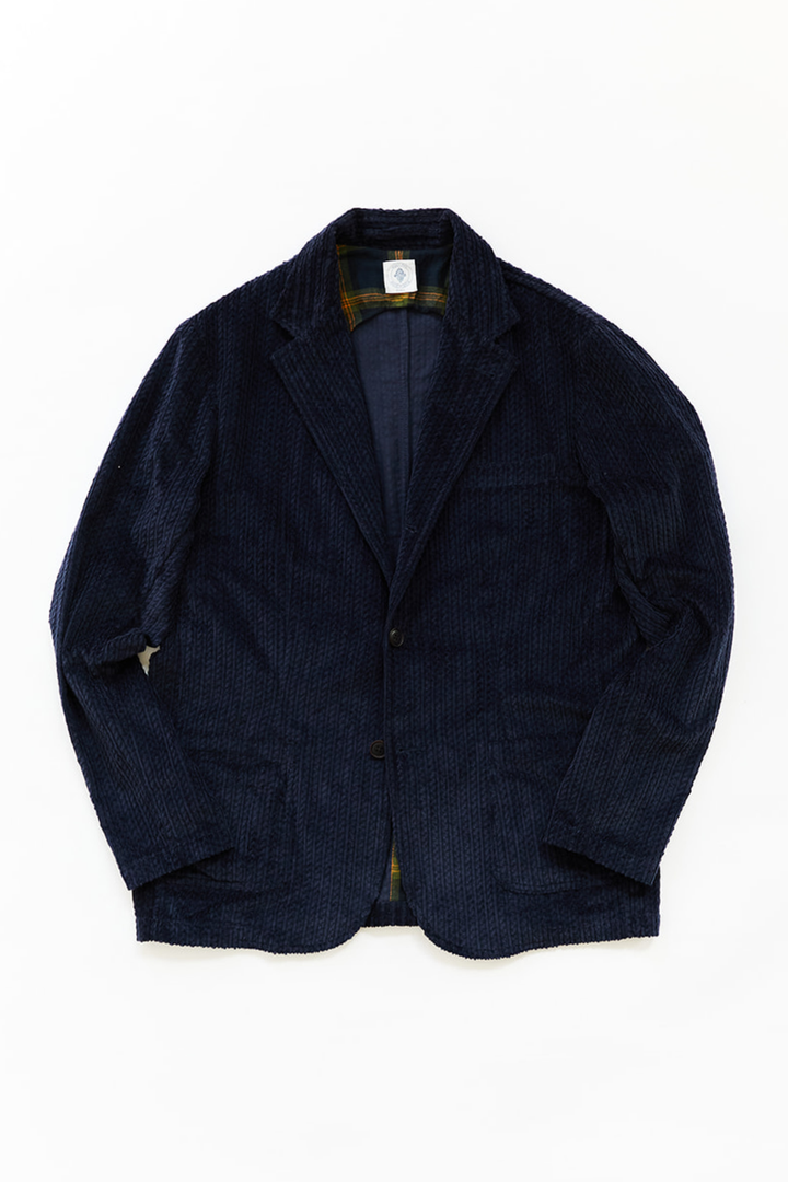 OSMAN JACKET - NAVY CABLED CORDUROY