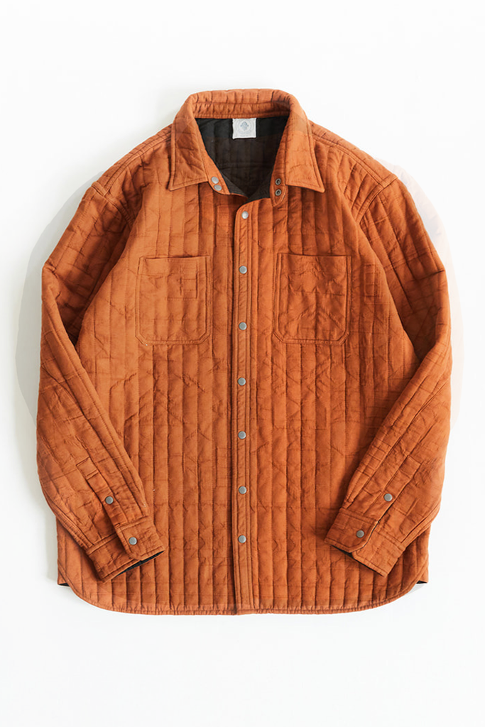 REVERSIBLE CLAREMONT QUILTED JACKET - ALMOND OVERSIZED JACQUARD