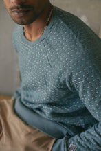 Load image into Gallery viewer, DAWA CREWNECK SWEATSHIRT - KANTHA STITCHED SAGE HEATHER