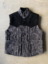 Load image into Gallery viewer, CHAMBAL CANYON VEST - BLACK AND WHITE KHADI COTTON TWEED