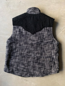 CHAMBAL CANYON VEST - BLACK AND WHITE KHADI COTTON TWEED