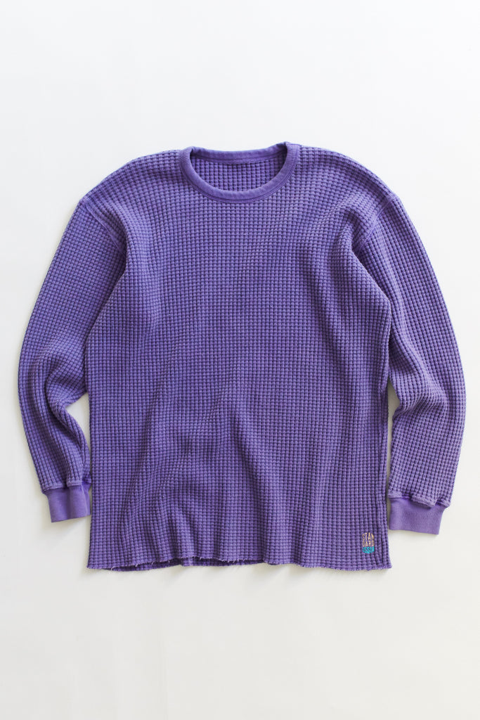 STANDARD ISSUE FOR 18 EAST—LAVENDER THERMAL CREWNECK