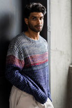 Load image into Gallery viewer, GABOR UPCYCLED CASHMERE CREWNECK - INDIGO