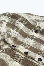 Load image into Gallery viewer, SAM SHIRT JACKET - ARMY / ECRU HANDLOOM COTTON PLAID