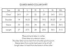 Load image into Gallery viewer, GUARDI BAND COLLAR SHIRT - WHITE / INDIGO STRIPE
