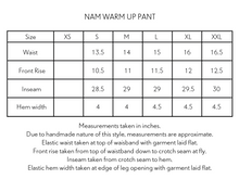 Load image into Gallery viewer, NAM WARM UP PANT - BURNT SIENNA NYLON