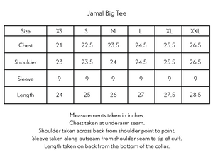 JAMAL HAND-EMBROIDERED BIG TEE - WHITE SLUB JERSEY