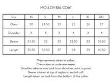 Load image into Gallery viewer, BAL COAT - BLACK/WHITE MOLLOY & SONS DONEGAL BASKETWEAVE TWEED