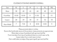 Load image into Gallery viewer, CLÚDACH WADER OVERALL - BLACK HANDWOVEN COTTON CANVAS