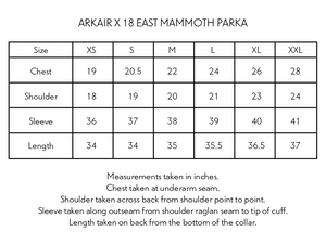 ARKAIR X 18 EAST MAMMOTH PARKA - INDIGO ARJAKH PRINTED WATER REPELLENT COTTON