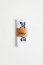 Load image into Gallery viewer, ALLCAPSTUDIO LUMUMBA SOCKS - WHITE
