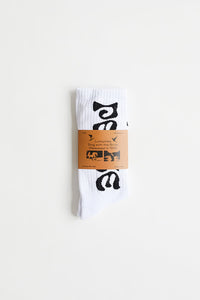 ALLCAPSTUDIO LUMUMBA SOCKS - WHITE