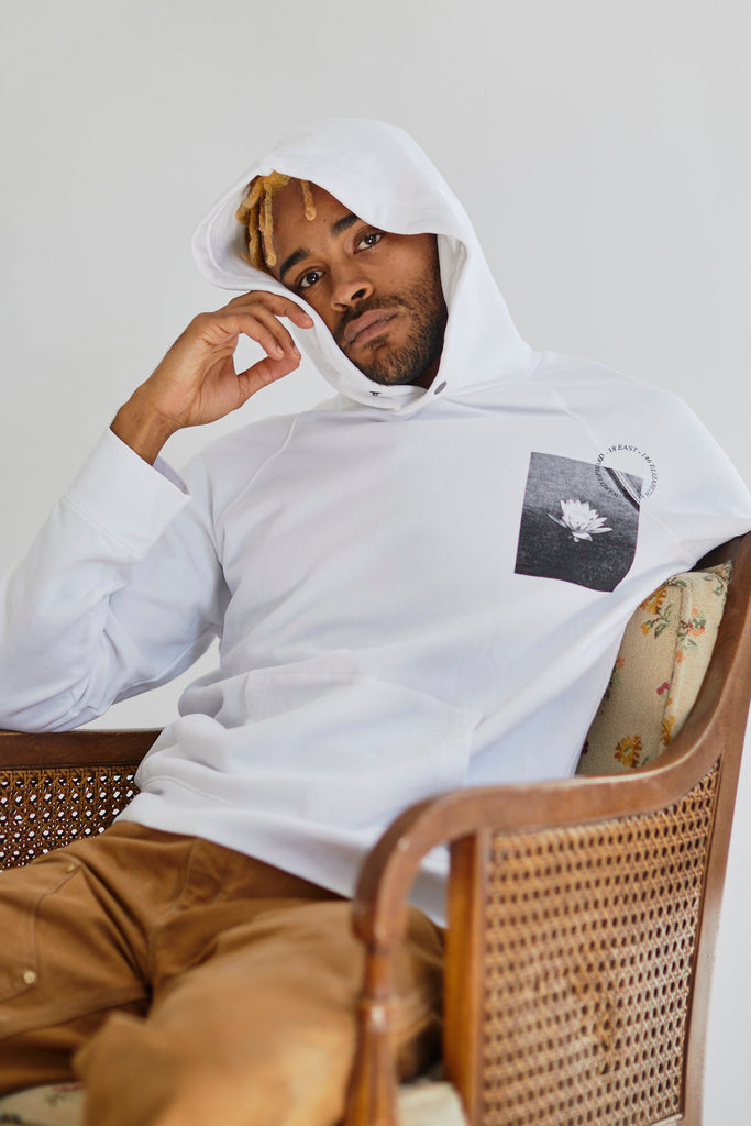ALL CAPS STUDIO LOTUS HOODED SWEATSHIRT
