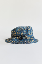 Load image into Gallery viewer, ARKAIR X 18 EAST BUCKET HAT - INDIGO ARJAKH PRINTED WATER REPELLENT COTTON