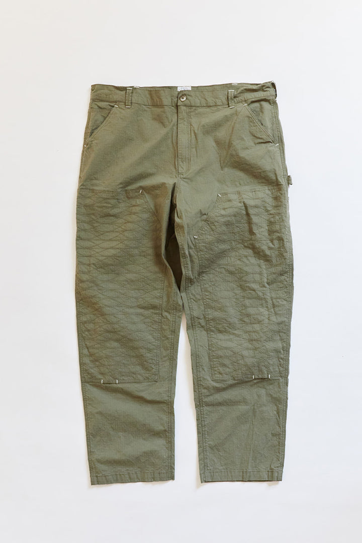 STUDIO DOUBLE KNEE PANT - ARMY RIPSTOP