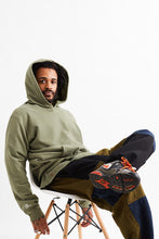 Load image into Gallery viewer, STANDARD ISSUE FOR 18 EAST - DEEP LICHEN GREEN HOODED SWEATSHIRT