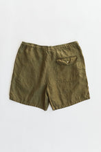 Load image into Gallery viewer, SHELTER CAMP SHORT - ARMY GREEN LINEN TWILL