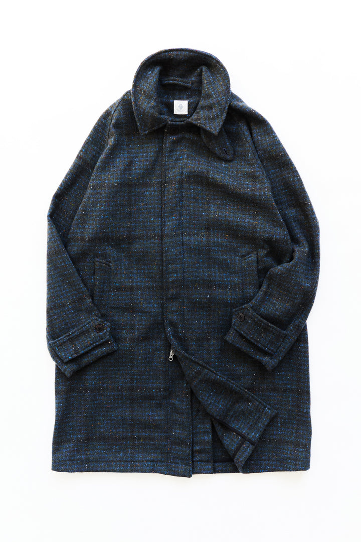 BAL COAT - INDIGO/ARMY/BLACK MOLLOY & SONS DONEGAL TWEED
