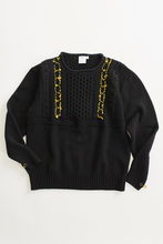 Load image into Gallery viewer, INIS MEAÍN MARTAÍN BEAG WORKWEAR GANSEY - BLACK / LICHEN