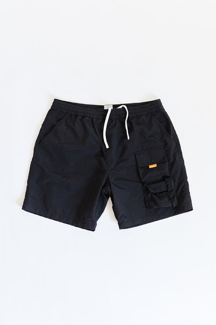 HANCOCK NYLON SHORTS - BLACK NYLON