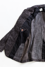 Load image into Gallery viewer, OSMAN JACKET - OVERDYED CHARCOAL KHADI COTTON TWEED