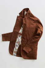 Load image into Gallery viewer, OSMAN JACKET - TOBACCO GAUZE BACK HERRINGBONE