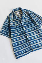 Load image into Gallery viewer, VITO CAMP SHIRT - INDIGO INSIDE-OUT BAGRU PRINTED COTTON