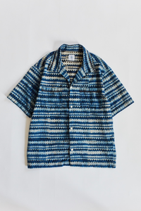 VITO CAMP SHIRT - INDIGO INSIDE-OUT BAGRU PRINTED COTTON