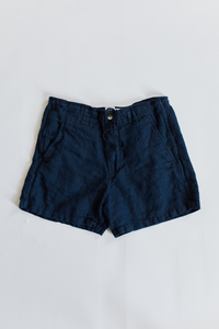 SHELTER CAMP SHORT - NAVY LINEN TWILL